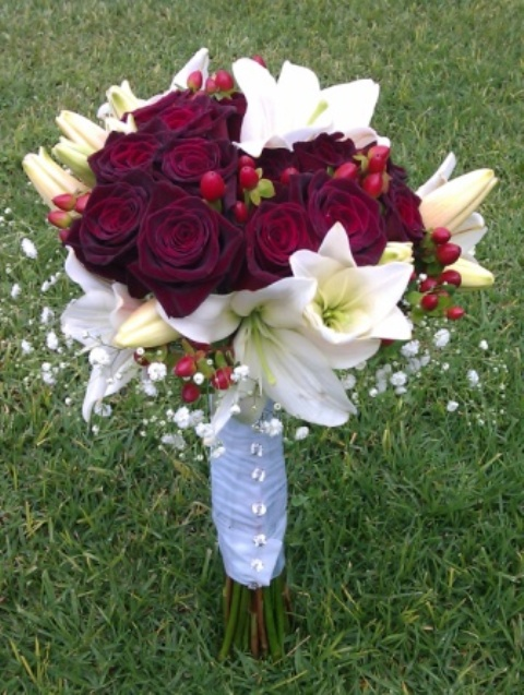 Bridal bouquet Nicolene Smit and Marcus Scheepers at Victorian Mannor