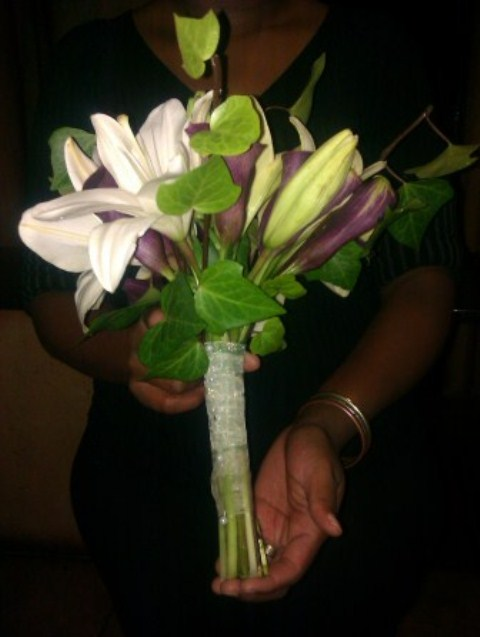 Bridesmaid bouquet Rosanne Eisenbach and Alex Peral at CASA TOSCANA